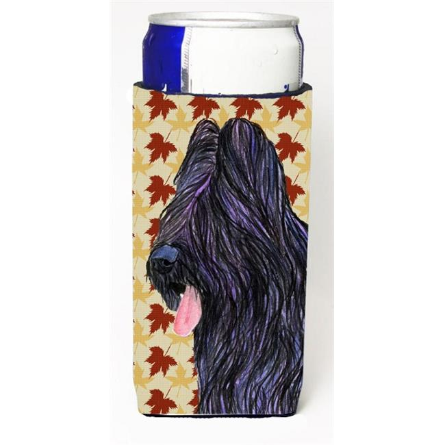 Carolines Treasures SS4367MUK Briard Fall Leaves Portrait Michelob Ultra bottle sleeve for Slim Can - image 1 of 1