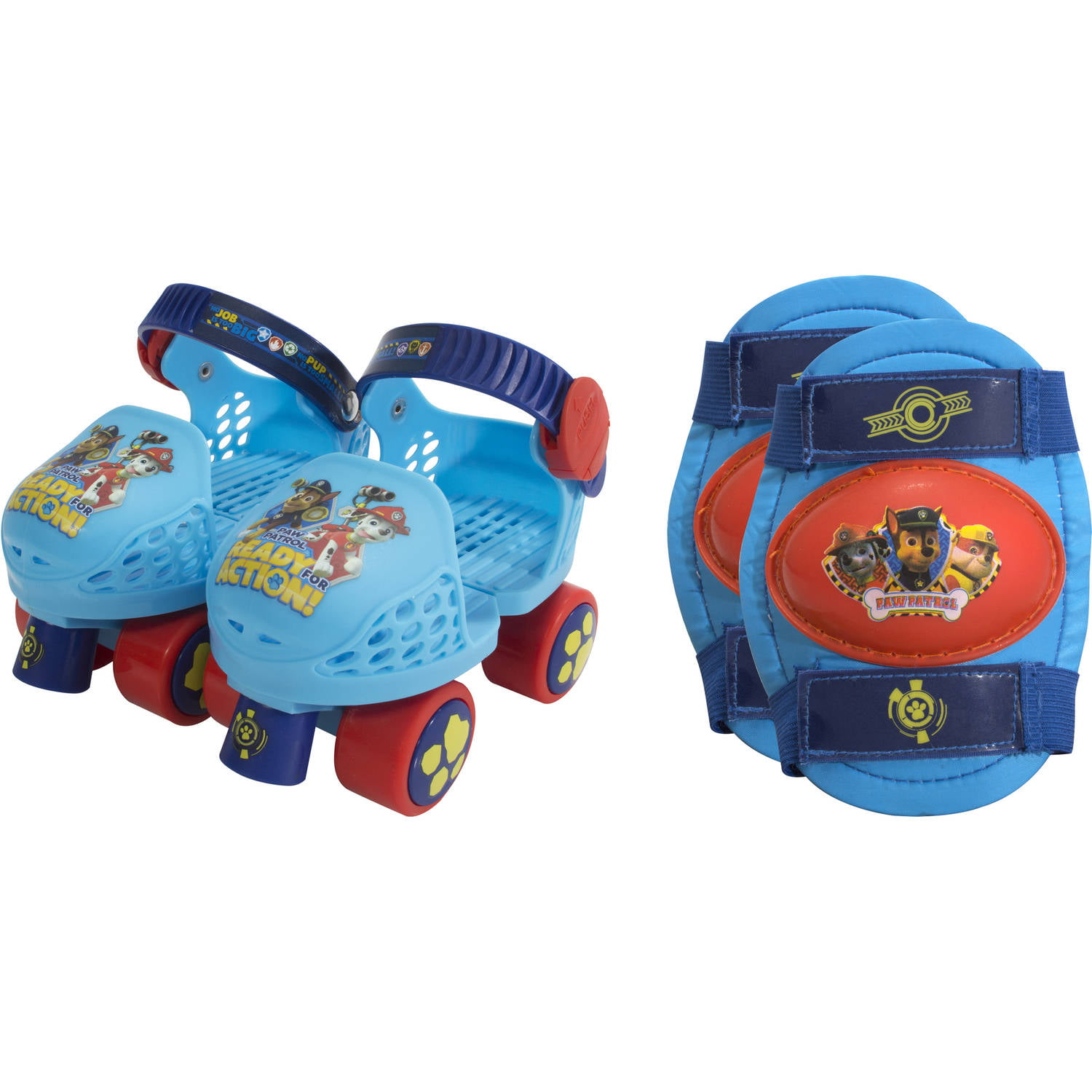Paw Patrol Kids' Roller Skates with Knee Pads by Bravo Sports