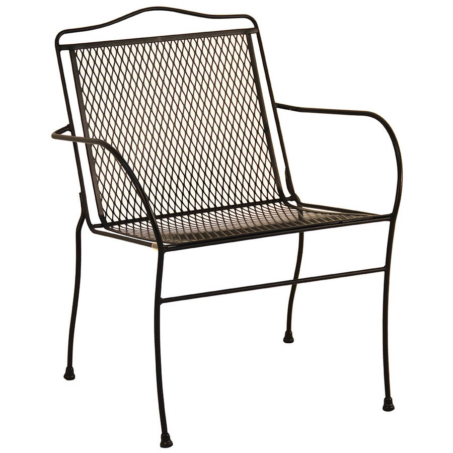Arlington House Sturdy Stack Chair, Charcoal