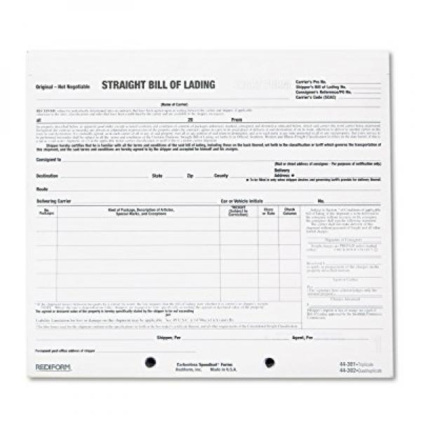 Rediform bill of lading short form, 8 1/2 x 7, three-part...