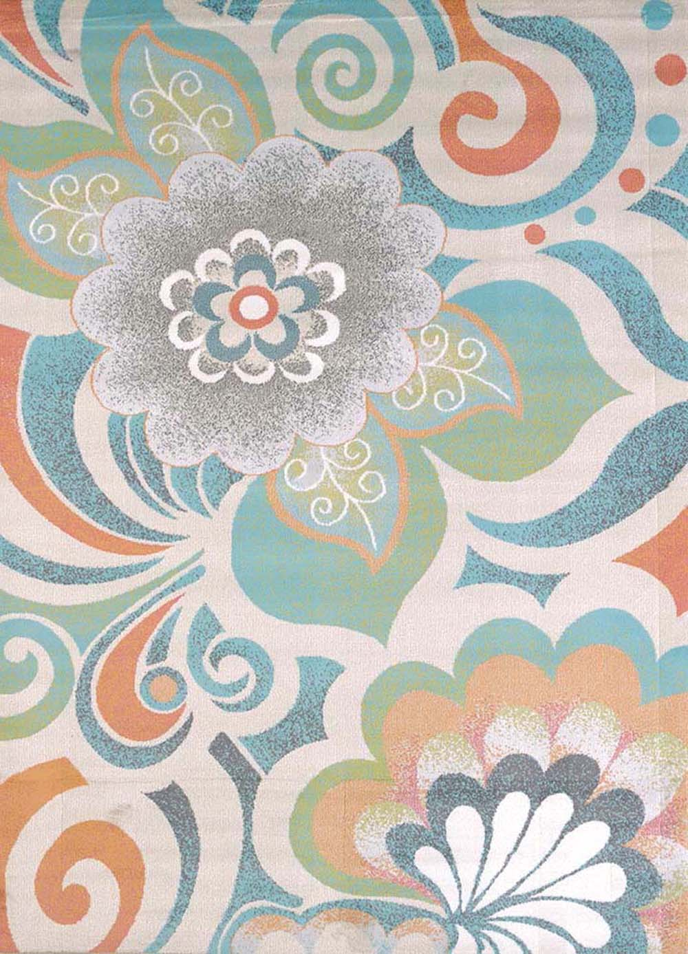 United Weavers Urban Galleries Area Rugs   590 20889 Transitional Casual  Tropical Swirls Petals Leaves
