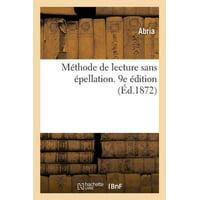 M Thode De Lecture Sans  Pellation. 9e  Dition