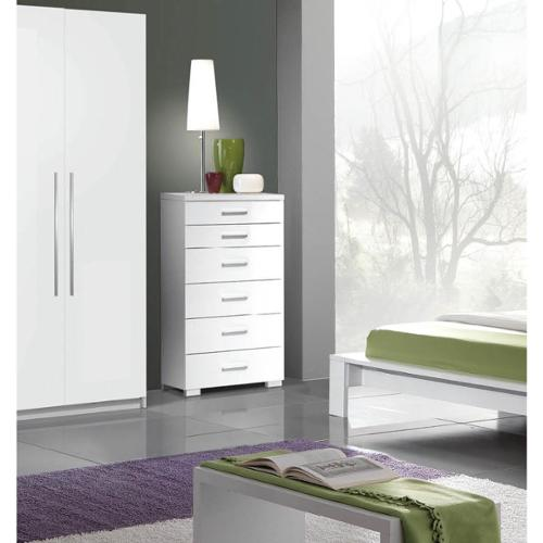 Luca Home White Contemporary Chest