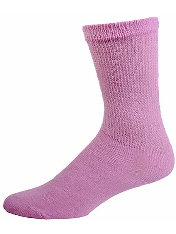 Sole Pleasers Diabetic Crew Socks, 12 Pair