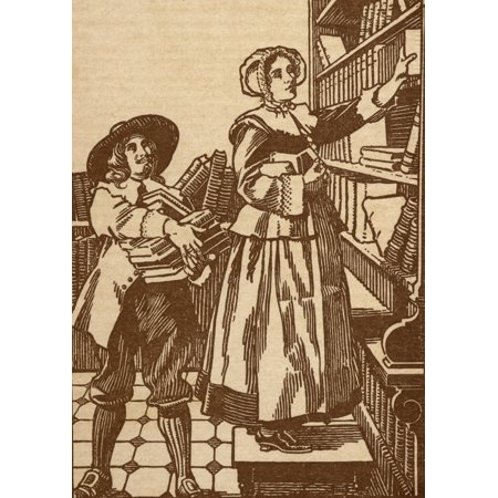 Multi Bookshop (Male And Female Booksellers Working In 17Th Century Bookshop)