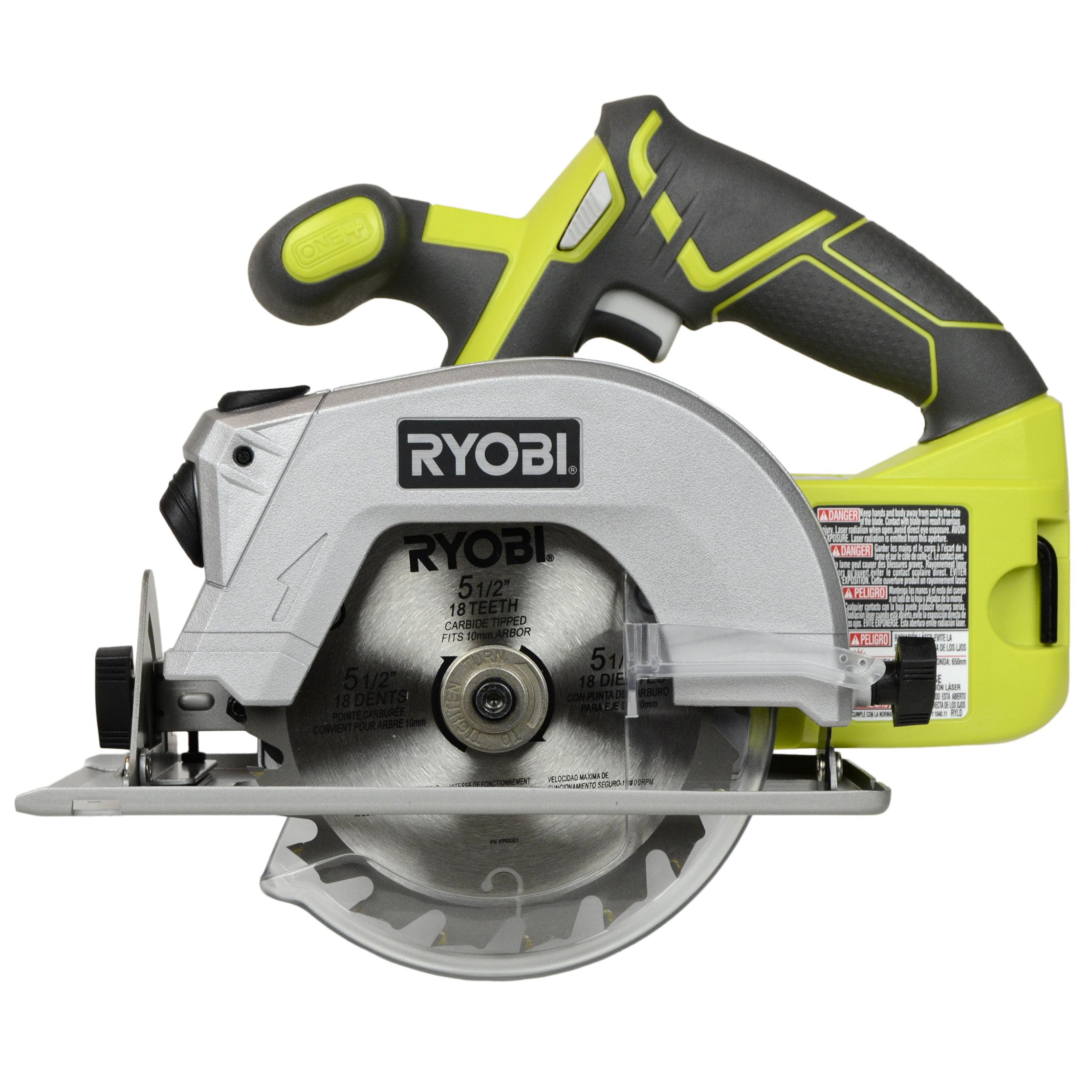 "Ryobi Tools P506 18V ONE+ Lithium-ion 5-1/2"" Cordless Circular Saw, Tool Only"