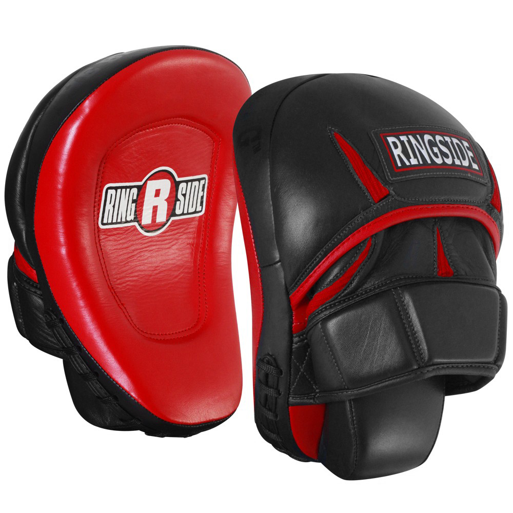 Ringside Pro Panther Boxing Punch Mitts - Black/Red