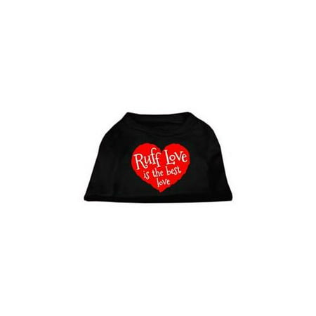 Ruff Love Screen Print Shirt Black XL 16
