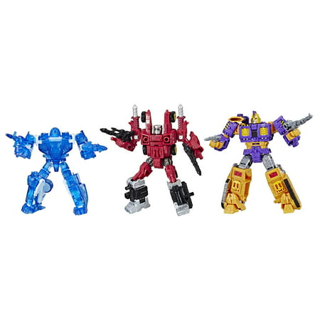 Transformers Toys Generations War for Cybertron Deluxe Fan-Vote Battle 3 Pack with Holo Mirage, Powerdasher Aragon, & Decepticon (Transformers War For Cybertron Cheats Ds Decepticons Codes)