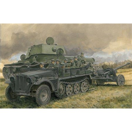 Dragon Models Sd.Jfz.10 Ausf.A with 5cm PaK 38 Model Kit (1/35 Scale) Multi-Colored