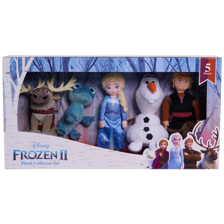 Disney Frozen 2 Elsa, Kristoff, Olaf, Sven and Bruni 10-Inch Plush 5-Pack