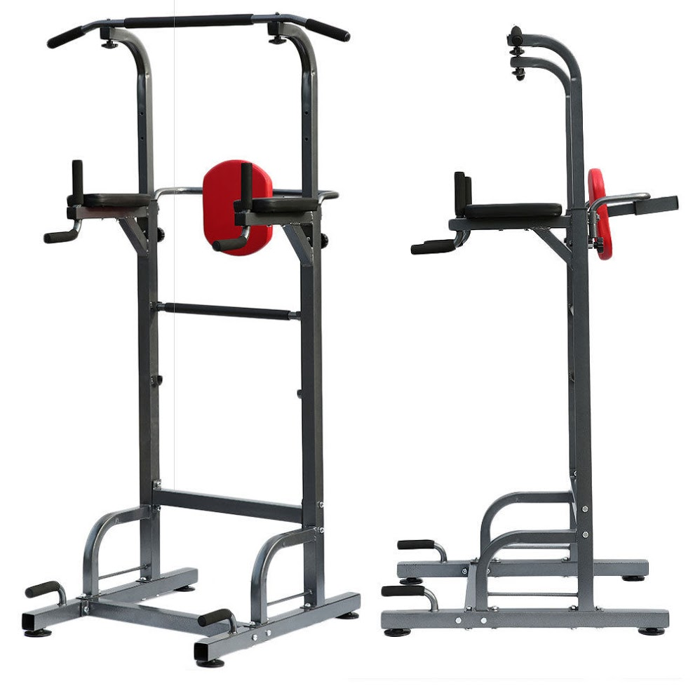 pull up dip station,Heavy Duty Dip Station Power Tower Pull Push Chin Up Bar Home Gym Fitness