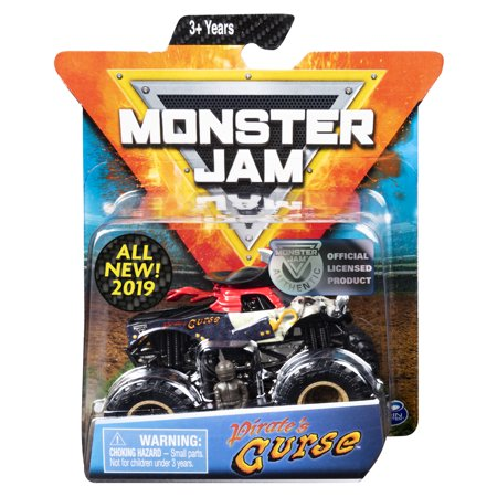 Monster Pirate (Monster Jam, Official Pirate's Curse Monster Truck, Die-Cast Vehicle, Crazy Creatures Series, 1:64 Scale )
