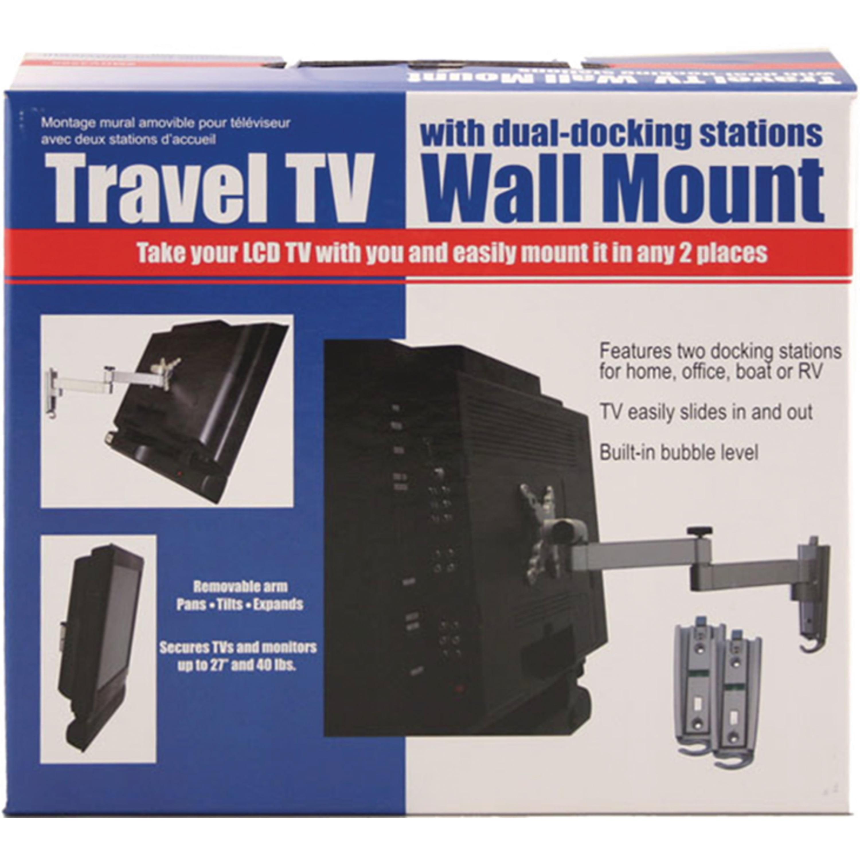 "Ready America MRV3500 Thumb Lock 40 lb. Capacity 27"" LCD RV TV Wall Mount"
