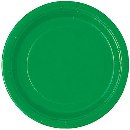 Green Paper Dessert Plates, 7in, 20ct - Green Plastic Plates