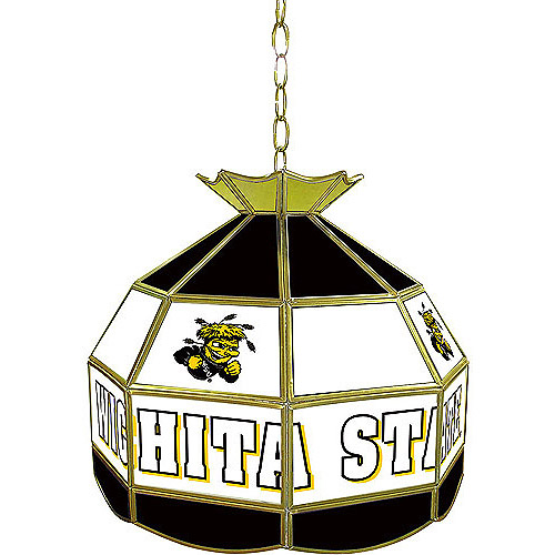 "Trademark Global Wichita State University 16"" Stained Glass Tiffany Lamp Light Fixture"