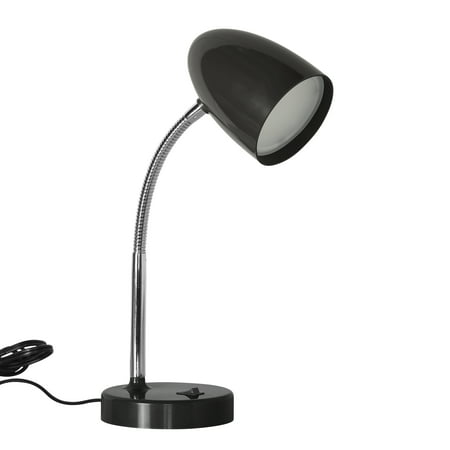 Mainstays 3.5 Watt LED Desk Lamp, Flexible Gooseneck, Black