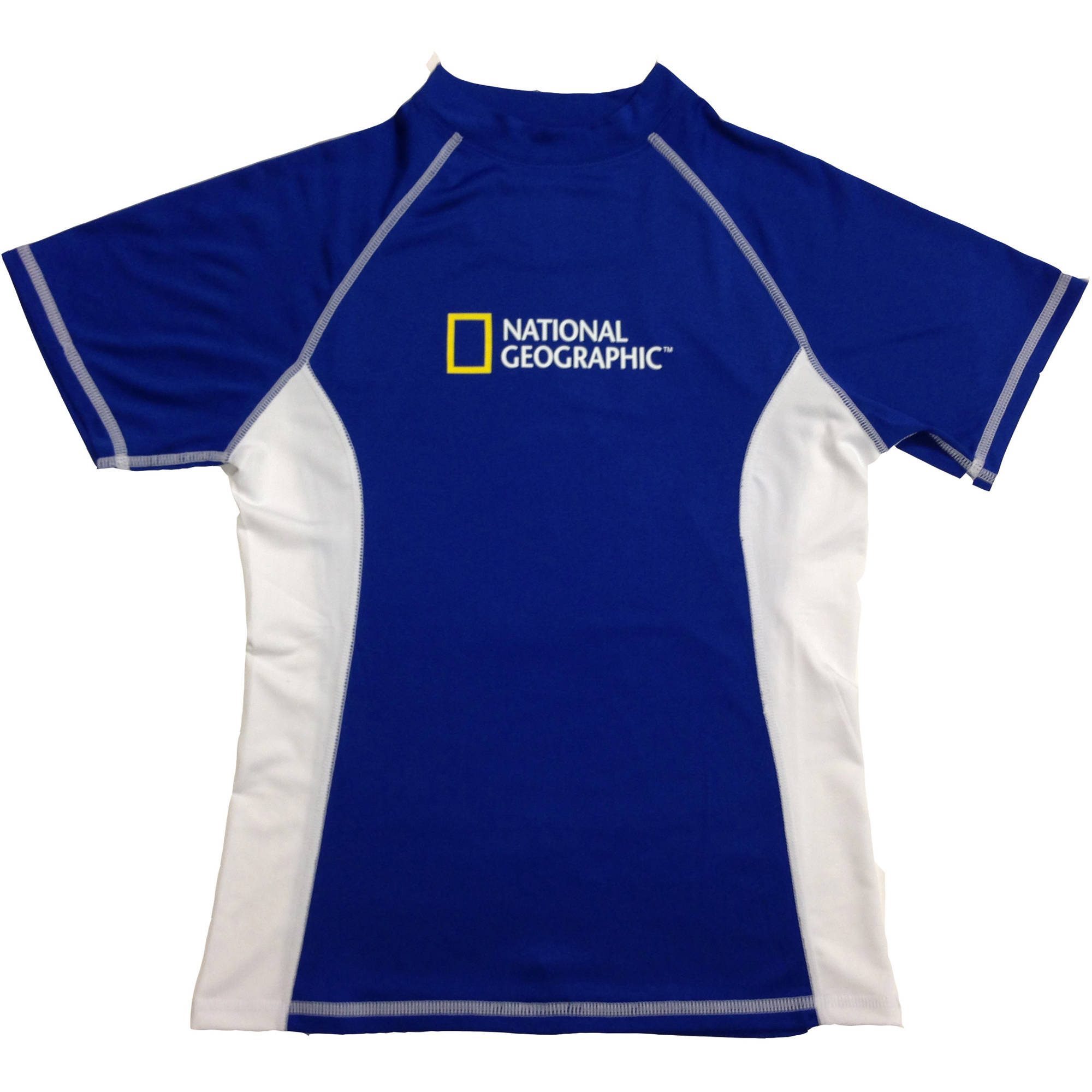 National Geographic Snorkeler Women's Short Sleeve Rash, Classic Royal/Wh, SM