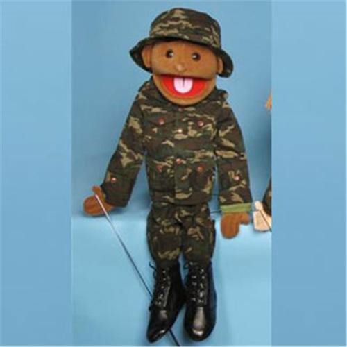Sunny Toys GS4635 28 inch Ethnic Boy In Army Uniform, Full Body Puppet by Sunny Toys