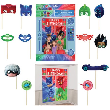pj masks photobooth kit 17 pieces. Black Bedroom Furniture Sets. Home Design Ideas