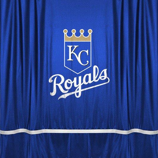 MLB Kansas City Royal Shower Curtain Baseball Team Logo Bath Accessory