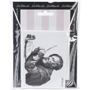 LaBlanche Silicone Stamp, 4 by 3-Inch, The Scholar Multi-Colored