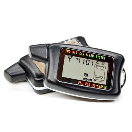 2 Way LCD Car Alarm Keyless Entry Remote Starter For International / Mitsubishi LoneStar M1400 Metro II - image 3 de 5