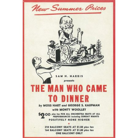 The Man Who Came to Dinner (1939) 11x17 Broadway Poster](Broadway Halloween)