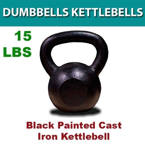 New MTN-G 15 Lbs Solid Cast Iron Kettlebells Weight Dumbbells Kettlebell