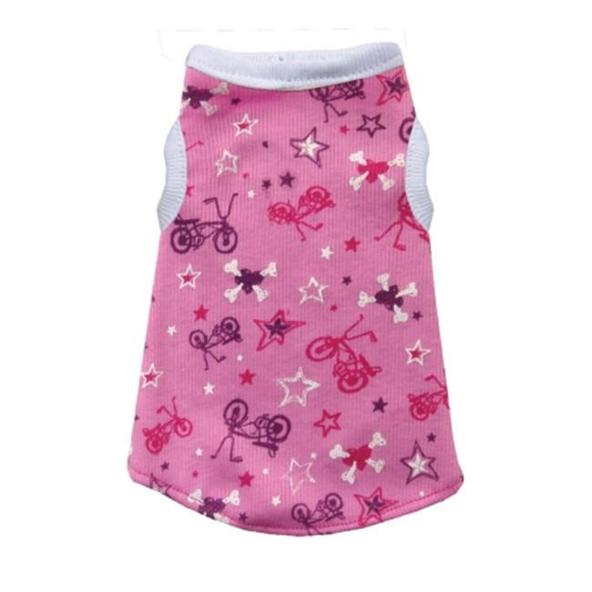 Hip Doggie HD-1PBO-XXS Extra Extra Small Pink Bicycle Tank