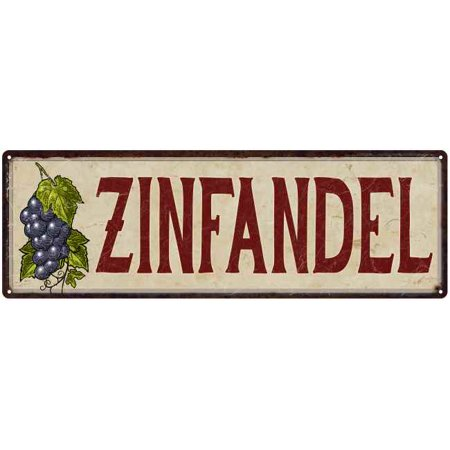 Zinfandel Grapes Wine Kitchen Vintage Wall Décor Metal Sign 6x18  206180016023