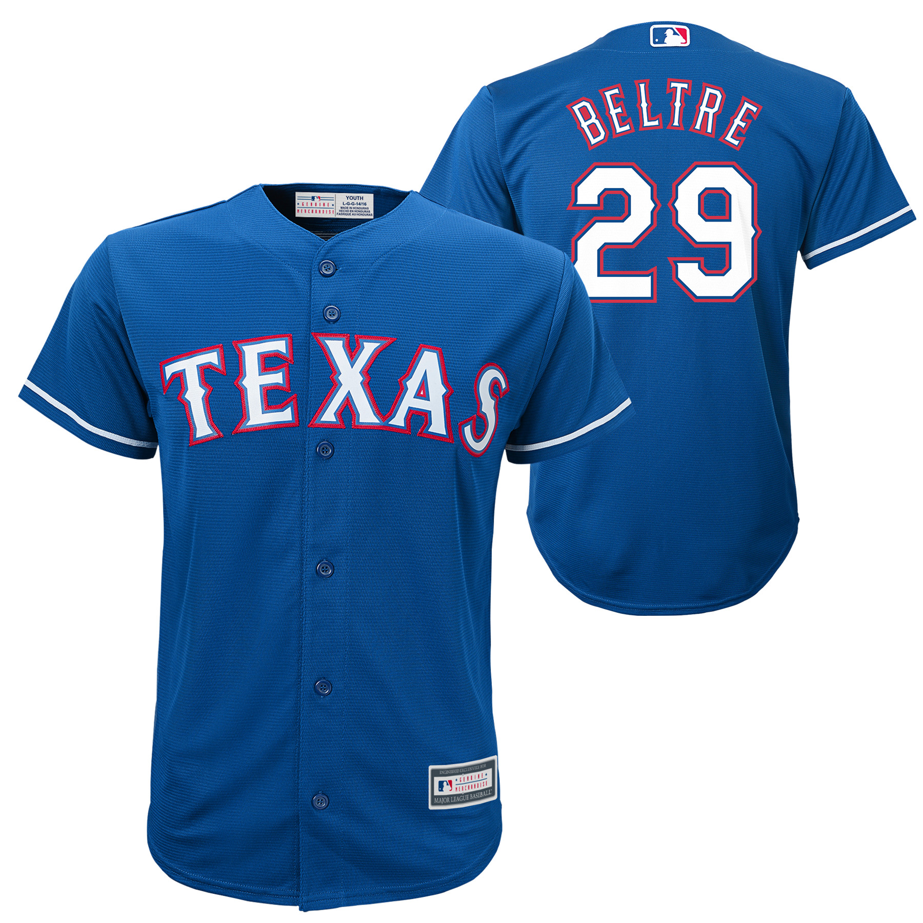 Adrian Beltre Texas Rangers Youth Player Replica Jersey - Royal