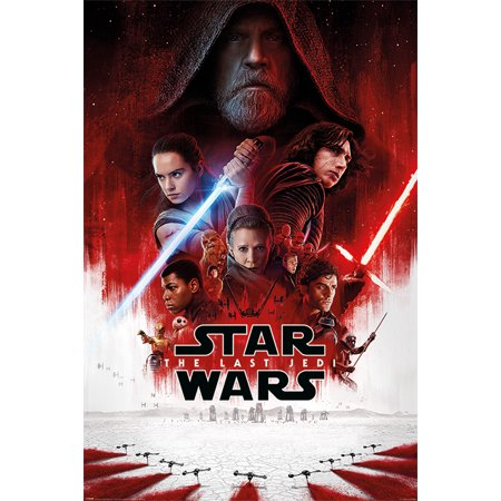 Star Wars: Episode VIII - The Last Jedi - Movie Poster / Print (Regular Style) (Size: 24
