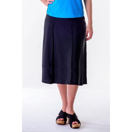 Waters Edge Hip Hiding Drop Waist Long Swim Skirt  (27