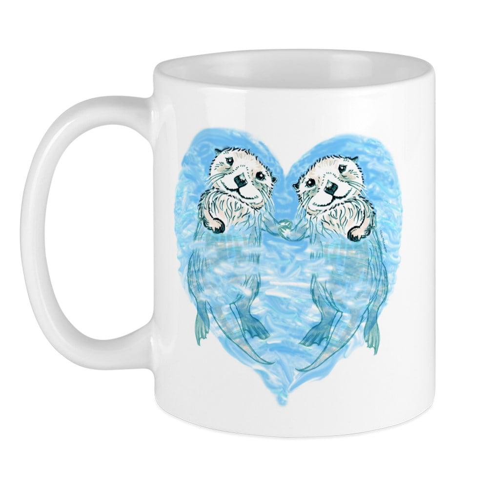 Cafepress Sea Otters Holding Hands Mug Unique Coffee Mug Coffee Cup Cafepress Walmart Com Walmart Com