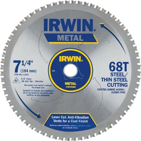 Ferrous Metal Cutting Blade (Irwin 4935560 7-1/4-Inch 68 Tpi Metal Cutting)