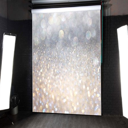 5x7FT Glitter Photography Vinyl Fabric Backdrop Background Photo Lighting Studio Props Christmas Wedding Valentine's - Glitter Backdrop