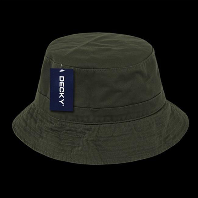 DECKY 961-PL-OLV-06 Polo Bucket Hat, Olive - Small & Medium