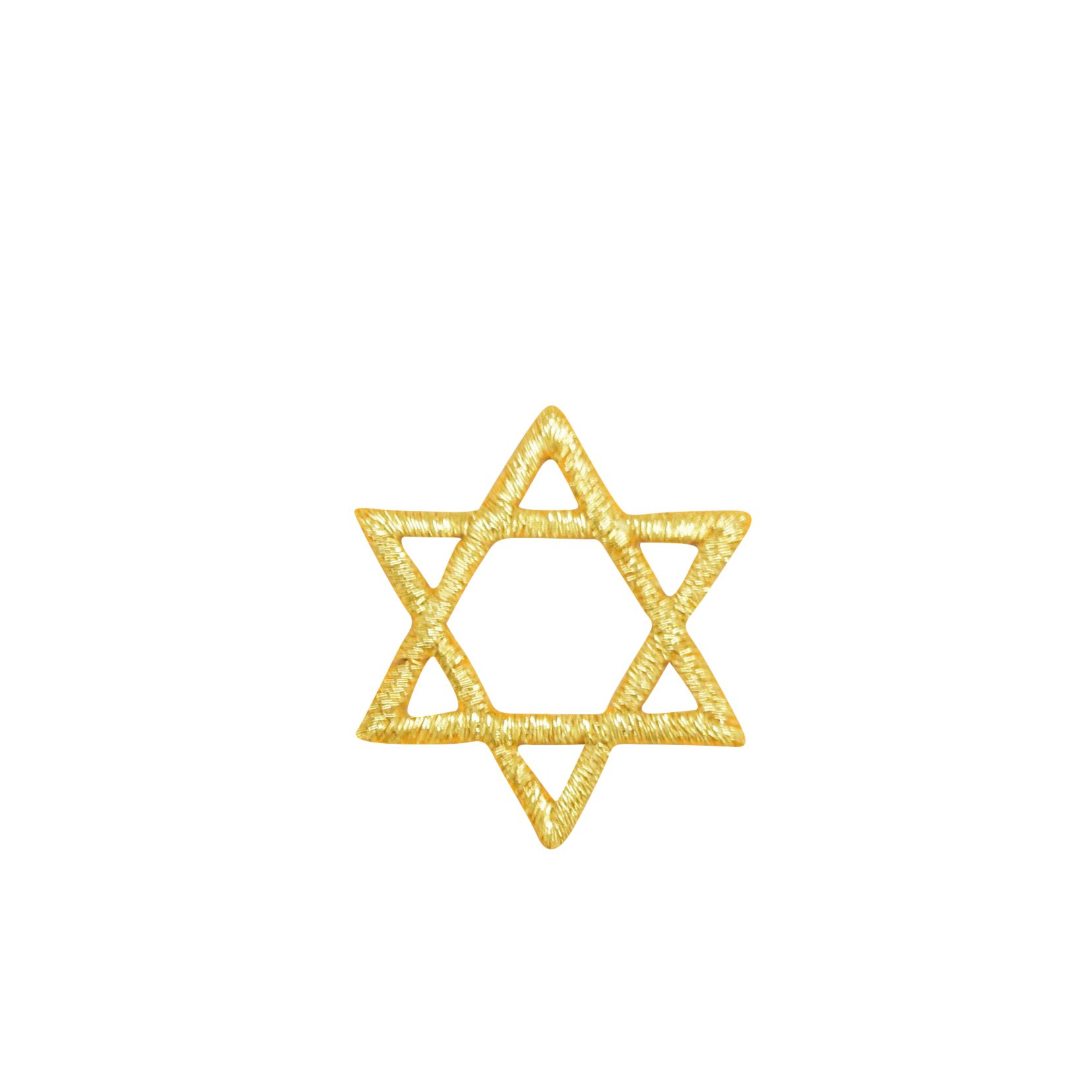 3-Pack, Mini, Iron on Blue Star of David Jewish Applique Patch