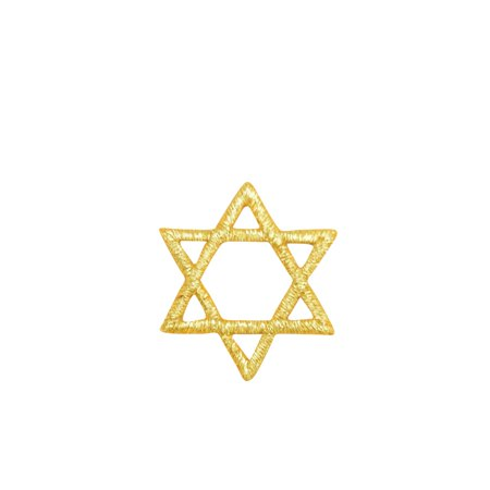Small Stars (SMALL Hannukah Jewish Star of David GOLD Iron on Embroidered Patch)