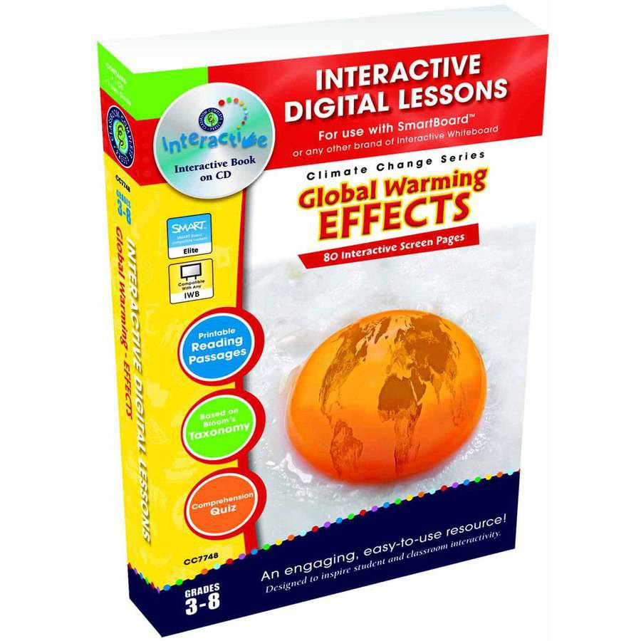 Classroom Complete Press Global Warming Interactive Digital Lesson, Effects CD-ROM, Grade 3 to 8