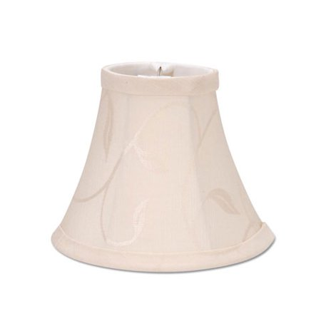 Lampshade - Cream with Swirl Leaf Pattern - 5 inches