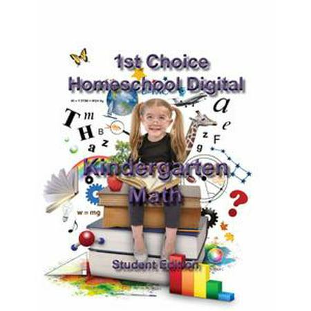 1st Choice Homeschool Digital Kindergarten Math- Student Edition - - Halloween Party Games For Kindergarten Students