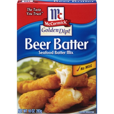 (3 Pack) McCormick Golden Dipt Beer Batter Seafood Batter Mix, 10 oz
