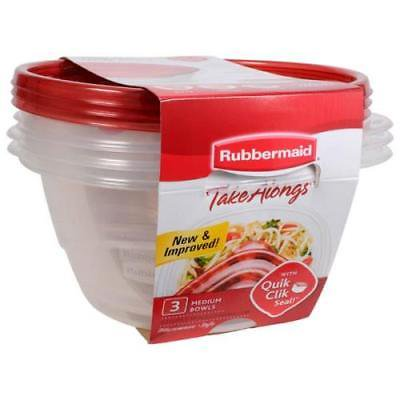 Rubbermaid Take Alongs 6.2 Cup Round Containers, Pack of 3, 2Pack