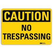 LYLE U4-1554-RA_14X10 Safety Sign,No Trespassing,10in.H