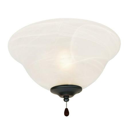 Design House 154211 3-Light Bowl Ceiling Fan Light Kit, Oil Rubbed Bronze Ceiling Fan Bowl Kit