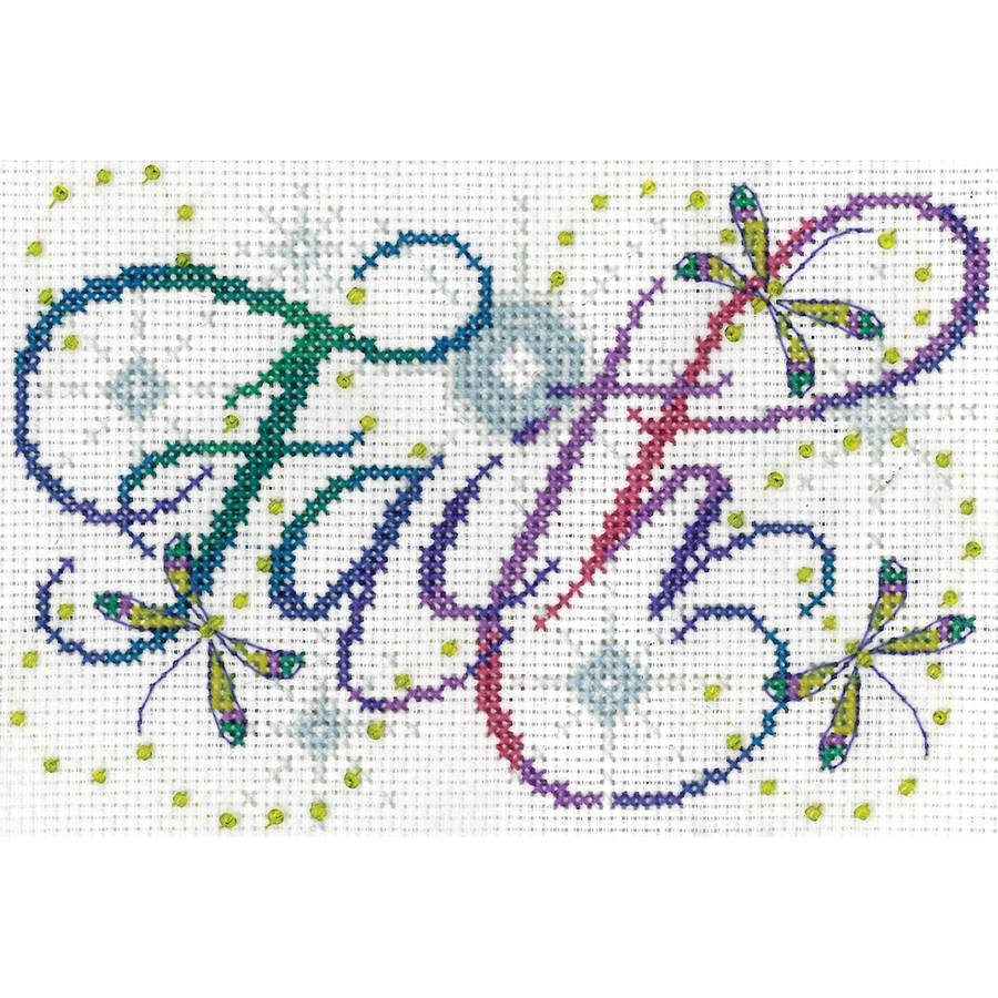 "Faith Counted Cross Stitch Kit, 5"" x 7"", 14-Count"