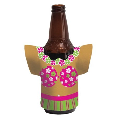 Club Pack of 24 Tropical Fiesta Hula Girl Shaped Koozie Drink Holders