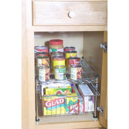 Wire Tech 99092 Stacking Cabinet Organizer, Chrome